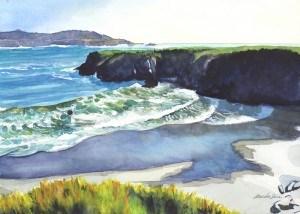 """Waves are Coming Going"" original fine art by Mariko Irie"