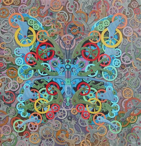 """Clockwork Butterfly No. 11"" original fine art by Randal Huiskens"