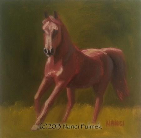 """Kuda Mini Portrait"" original fine art by Nanci Fulmek"