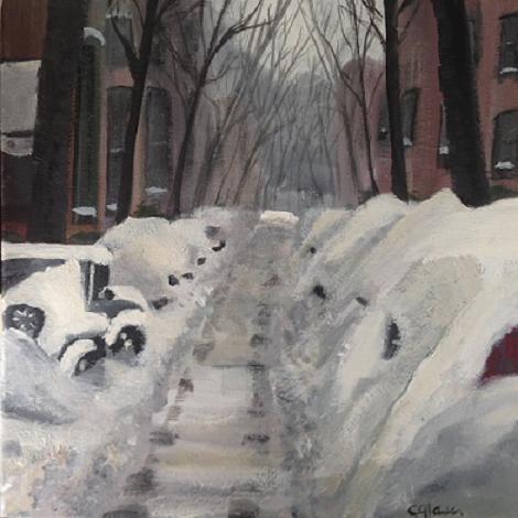 """Northeast Jeep"" original fine art by christina glaser"