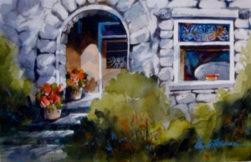 """Summer Shadows III"" original fine art by Kathy Los-Rathburn"