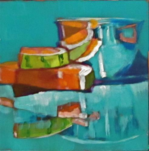 """""""Reflections On Summer Fun"""" original fine art by Christine Holzschuh"""