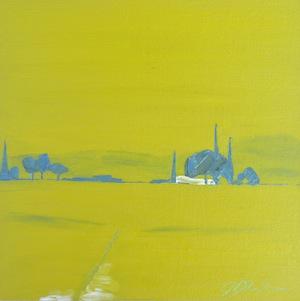 """Rural Green"" original fine art by Janet Bludau"