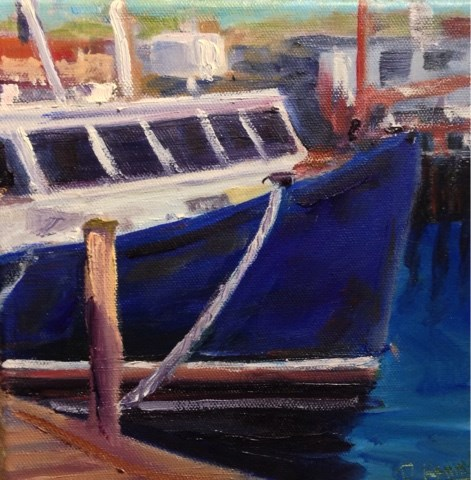 """Hyannis Harbor"" original fine art by Debra Kennedy"