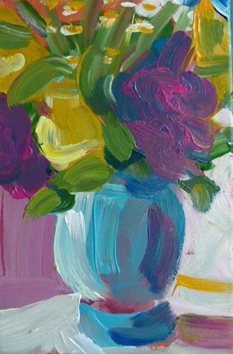 """Barock Flowers"" original fine art by Sabine Hüning"
