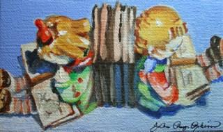 """Hummel Bookends"" original fine art by JoAnne Perez Robinson"