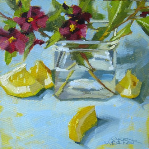 """Twigs & Wedges"" original fine art by Karen Werner"