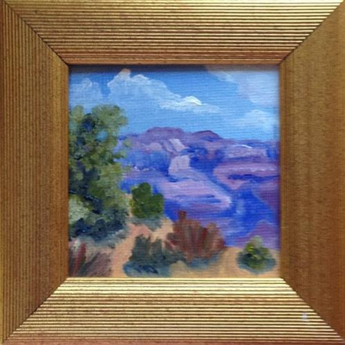 """""""On The Edge (framed)"""" original fine art by Michelle Wolfe"""