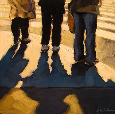 """Them & Their Shadow"" original fine art by Karin Jurick"