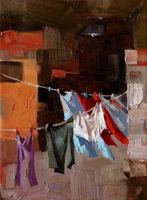 """""""Natural Dryer --- Sold"""" original fine art by Qiang Huang"""