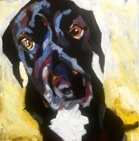 """Mercedes - The pup"" original fine art by Piya Samant"