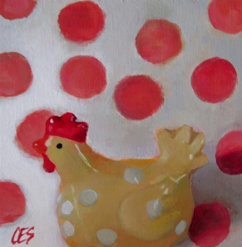 """The Traveling Chicken's Spots"" original fine art by ~ces~ Christine E. S. Code"