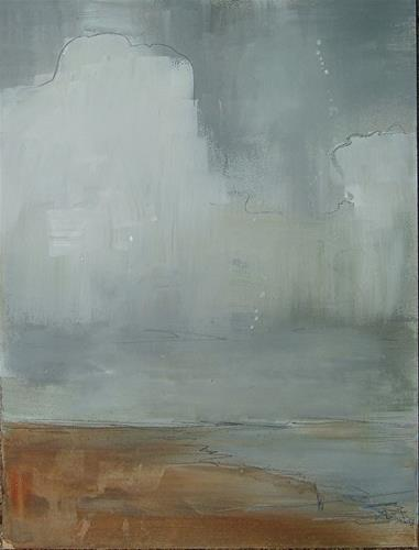 """East Beach Fog"" original fine art by Rachel Wiley-Janota"