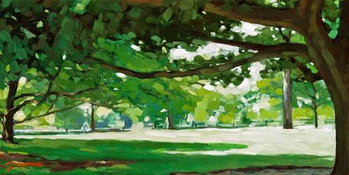 """Summer's Shade At Monticello"" original fine art by Joanna Bingham"