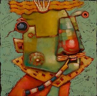"""P. Charming"" original fine art by Brenda York"
