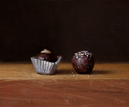 """""""Still Life with Chocolate Truffles No. 2  (+ 8 days of 24-hour auctions)"""" original fine art by Abbey Ryan"""