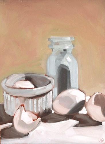 """White Object Still Life"" original fine art by Jessica Green"