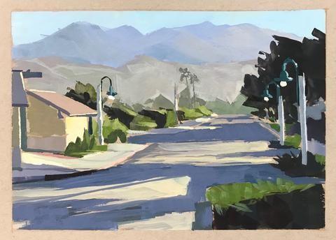 """""""Sunrise Shadows"""" original fine art by Sharon Schock"""