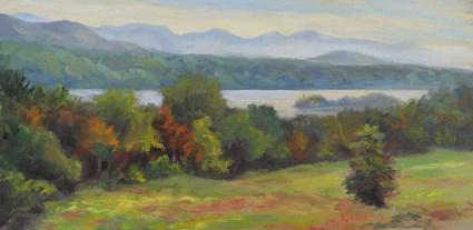 """""""Vanderbilt Vista"""" original fine art by Jamie Williams Grossman"""