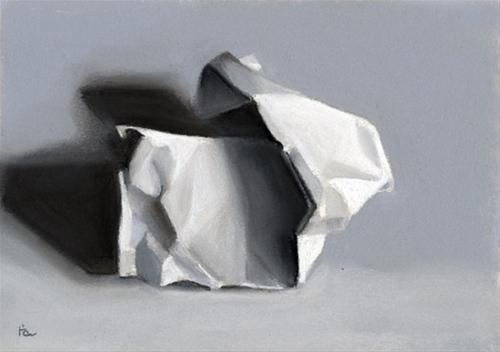 """""""crumpled paper"""" original fine art by Ria Hills"""