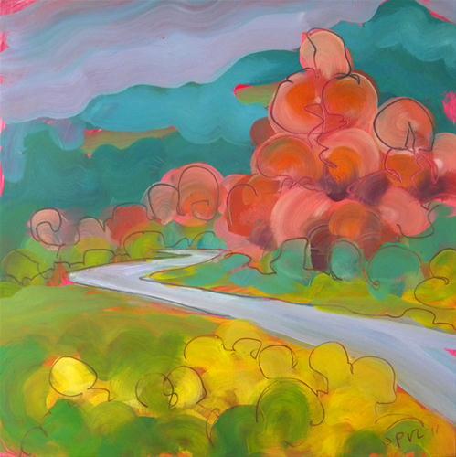 """""""German Highway 2"""" original fine art by Pam Van Londen"""