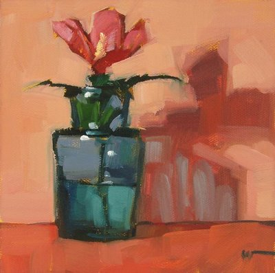 """Blue Bottle"" original fine art by Carol Marine"