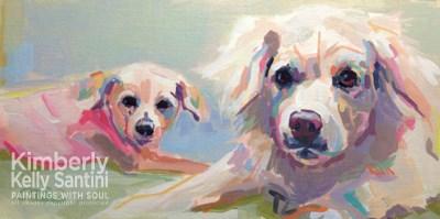 """""""Siblings"""" original fine art by Kimberly Santini"""