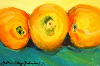 """When life gives you lemons...paint them."" original fine art by JoAnne Perez Robinson"