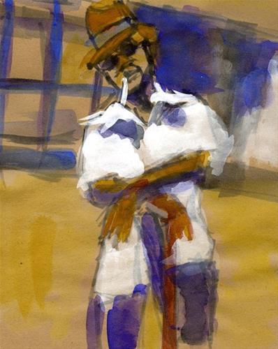 """Say Uncle"" original fine art by Donna Crosby"