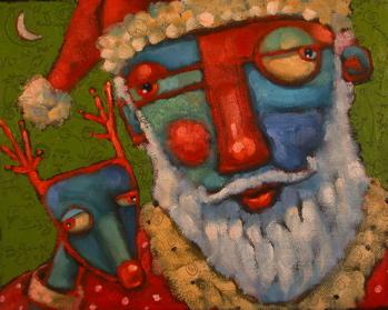 """Rudy Seriously Considers Going AWOL"" original fine art by Brenda York"