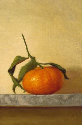 """Clementine with Stem (Perugia, Italy)"" original fine art by Abbey Ryan"