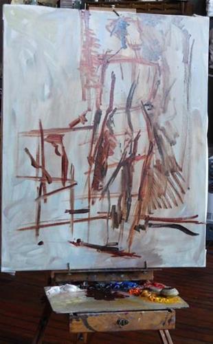 """""""Ben Fenske demo"""" original fine art by Kathy Weber"""