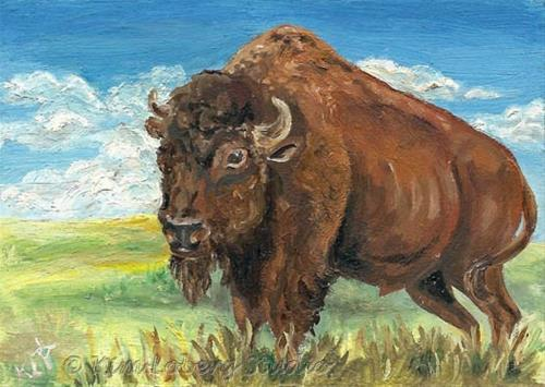 """Monarch of the Plains"" original fine art by Kim Loberg"