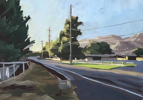 """Foothill Road Carpinteria"" original fine art by Sharon Schock"