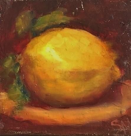 """they call me mellow yellow"" original fine art by Susie Monzingo"