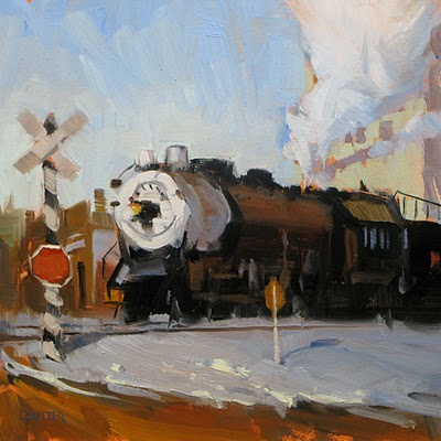 """COLORADO STEAM LOCOMOTIVE"" original fine art by James Coulter"