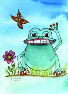"""""""Feelin' Froggy"""" original fine art by Kali Parsons"""