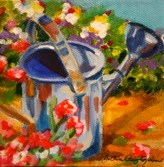 """""""Watering Can For Mom"""" original fine art by JoAnne Perez Robinson"""