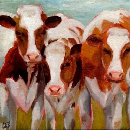 """""""Three's a Crowd"""" original fine art by ~ces~ Christine E. S. Code"""