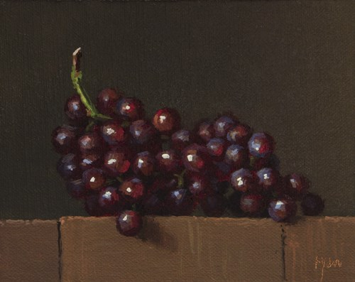 """""""Red Grapes in the Last Afternoon Light  (+ How High Will You Fly?)"""" original fine art by Abbey Ryan"""
