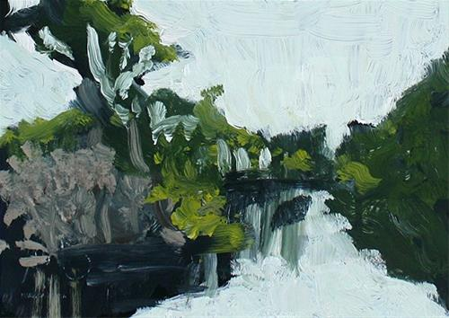 """Stowe Lake"" original fine art by J. Farnsworth"