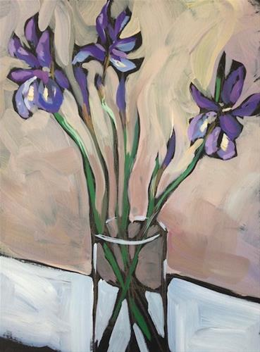 """Northern Irises"" original fine art by Kat Corrigan"