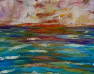 """Pinktacular"" original fine art by Maggie Flatley"