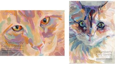 """Quite the Pair"" original fine art by Kimberly Santini"