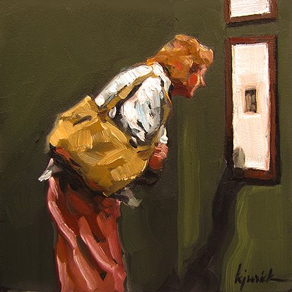 """Peephole"" original fine art by Karin Jurick"