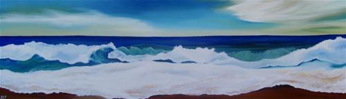 """""""Crashing Waves"""" original fine art by ~ces~ Christine E. S. Code"""