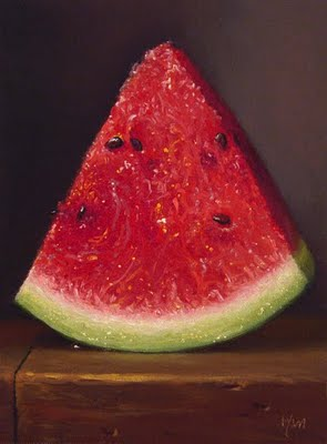 """Watermelon Slice"" original fine art by Abbey Ryan"