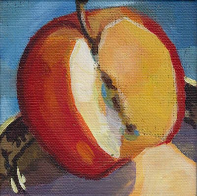 """Red Apple Study"" original fine art by J M Needham"