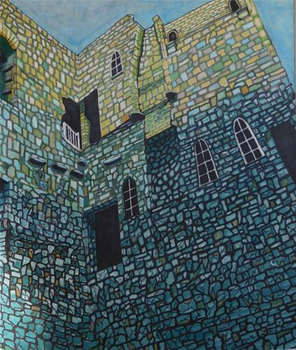 """Welsh Castle Wall"" original fine art by R. L. Einhaus"