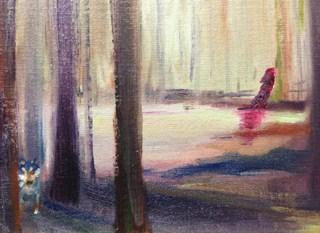 """Red Riding Hood"" original fine art by Peggy Schumm"